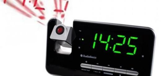 AudioSonic CL 1492 radioreveil projecteur