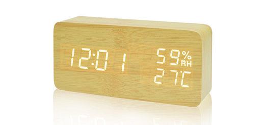 FIBISONIC radio reveil en bois